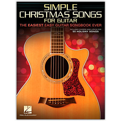 Hal Leonard Simple Christmas Songs - The Easiest Easy Guitar Songbook Ever
