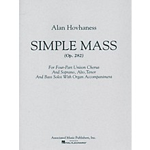 Associated Simple Mass (SATB) SATB composed by Alan Hovhaness
