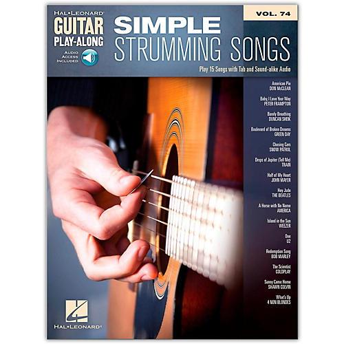 Hal Leonard Simple Strumming Songs - Guitar Play-Along Vol. 74 Book/Online Audio
