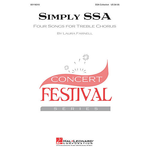 Hal Leonard Simply SSA (Four Songs for Treble Chorus) SSA COLLECTION arranged by Laura Farnell