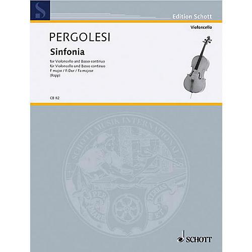 Schott Sinfonia F Major (Cello and Piano) Schott Series