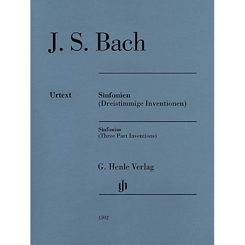 G. Henle Verlag Sinfonias (Three Part Inventions) Henle Music Folios Series Softcover