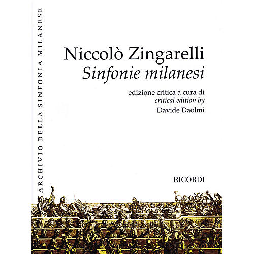 Ricordi Sinfonie Milanesi Misc Series Softcover Composed by Niccolo Zingarelli Edited by Davide Daolmi