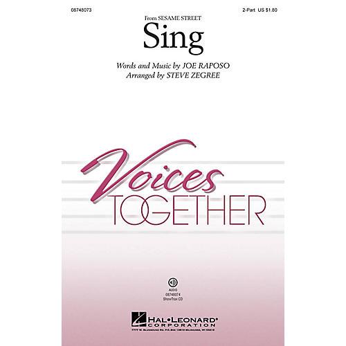 Hal Leonard Sing 2-Part arranged by Steve Zegree