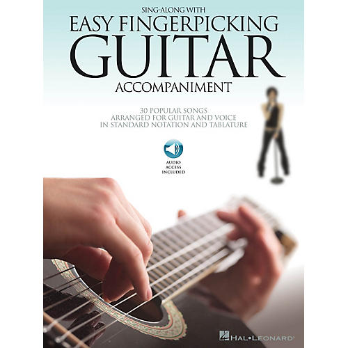 Hal Leonard Sing Along with Easy Fingerpicking Guitar Accompaniment Guitar Collection Softcover with CD by Various