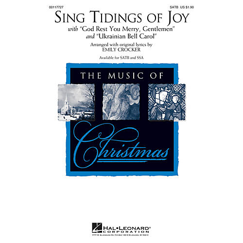 Hal Leonard Sing Tidings of Joy SATB arranged by Emily Crocker