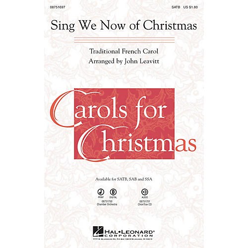 Hal Leonard Sing We Now of Christmas Chamber Orchestra Arranged by John Leavitt