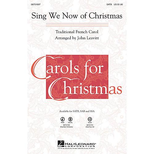 Hal Leonard Sing We Now of Christmas SAB Arranged by John Leavitt