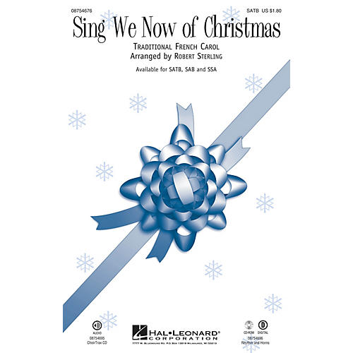 Hal Leonard Sing We Now of Christmas SATB arranged by Robert Sterling