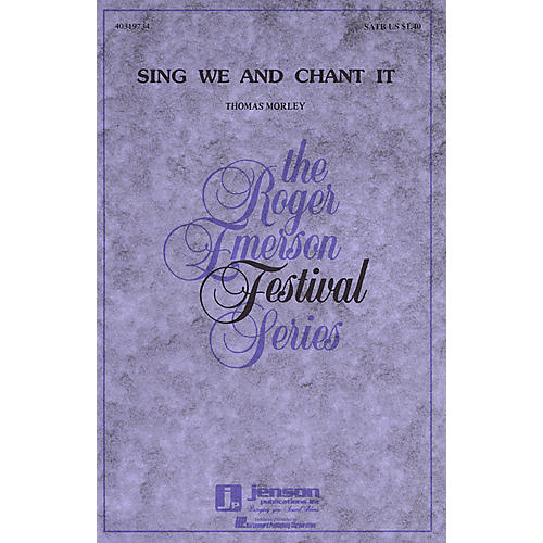 Hal Leonard Sing We and Chant It SATB a cappella arranged by Roger Emerson