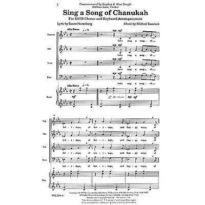 Transcontinental Music Sing a Song of Chanukah SATB composed by Michael Isaacson