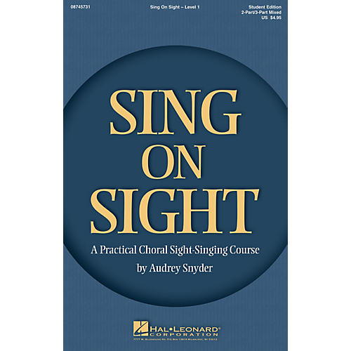 Hal Leonard Sing on Sight (A Practical Choral Sight-Singing Course) Accompaniment CD