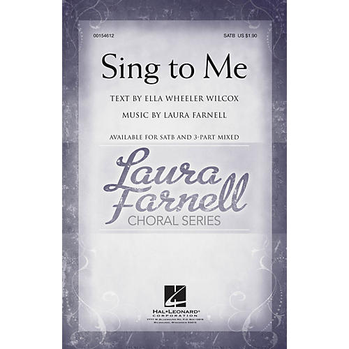 Hal Leonard Sing to Me 3-Part Mixed Composed by Laura Farnell