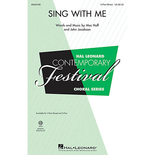 Hal Leonard Sing with Me 3-Part Mixed composed by Mac Huff