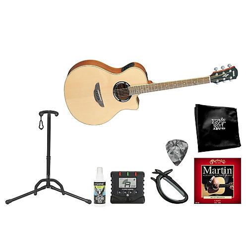 Yamaha Singer/Songwriter Cutaway Steel String Acoustic-Electric Guitar Bundle