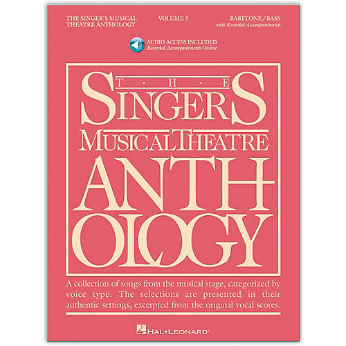 Hal Leonard Singer's Musical Theatre Anthology for Baritone / Bass Volume 3 Book/Online Audio