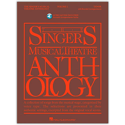 Hal Leonard Singer's Musical Theatre Anthology for Tenor Voice Volume 1 Book/Online Audio