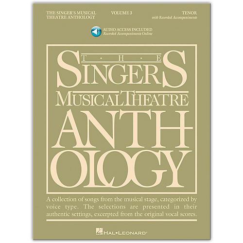 Hal Leonard Singer's Musical Theatre Anthology for Tenor Voice Volume 3 Book/Online Audio