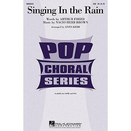 Hal Leonard Singing in the Rain SSA arranged by Anita Kerr