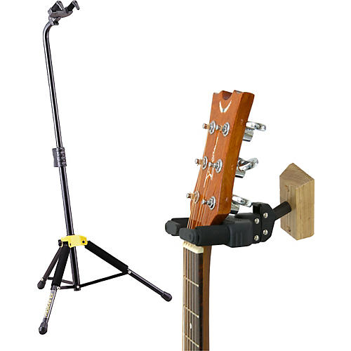 Hercules Stands Single Guitar Stand with Free Wallmount Guitar Hanger
