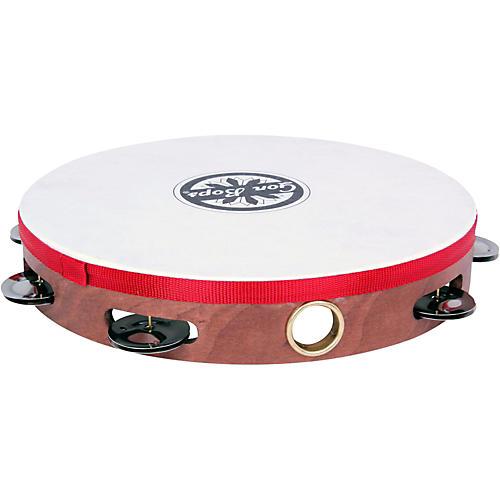 Gon Bops Single Row Wooden Tambourine w/Head