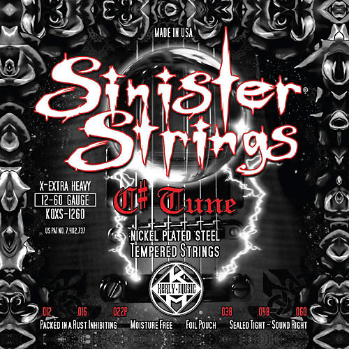 Kerly Music Sinister Strings NPS C# Tune Extra Heavy Electric Guitar Strings