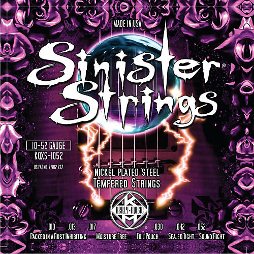 Kerly Music Sinister Strings Nickel Wound Electric Guitar Strings Light