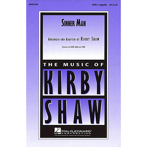 Hal Leonard Sinner Man SSAA A Cappella Arranged by Kirby Shaw