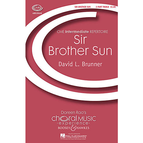 Boosey and Hawkes Sir Brother Sun (CME Intermediate) 2-Part composed by David Brunner