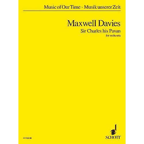 Schott Sir Charles His Pavan (Study Score) Schott Series Composed by Peter Maxwell-Davies