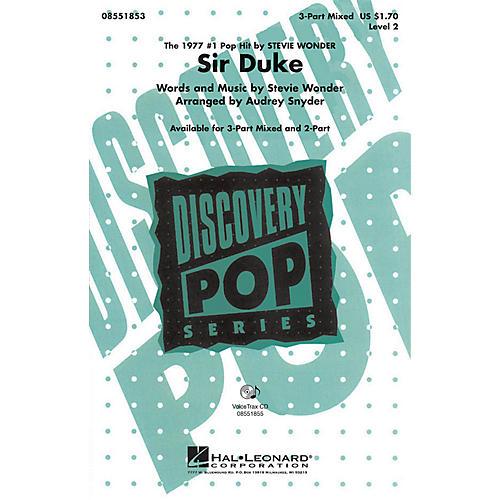 Hal Leonard Sir Duke 3-Part Mixed by Stevie Wonder arranged by Audrey Snyder