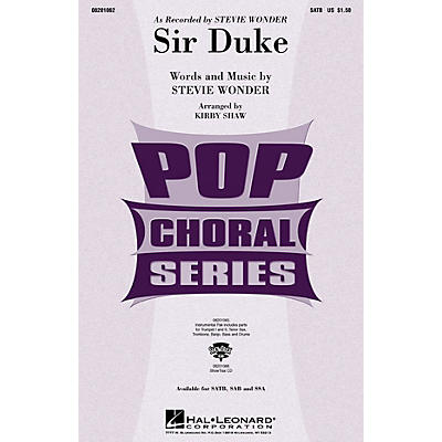 Hal Leonard Sir Duke SSA by Stevie Wonder Arranged by Kirby Shaw