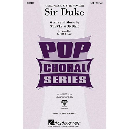 Hal Leonard Sir Duke ShowTrax CD by Stevie Wonder Arranged by Kirby Shaw
