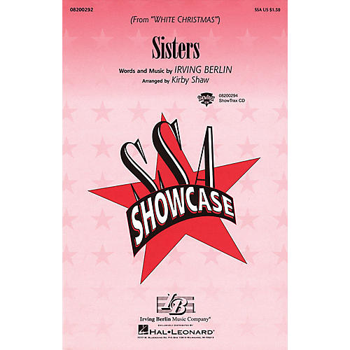Hal Leonard Sisters (from White Christmas) ShowTrax CD Arranged by Kirby Shaw