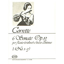 Editio Musica Budapest Six (6) Sonatas For Flute (violin) And Basso Continuo Op13 Volume 1 Nos 1-3 EMB Series