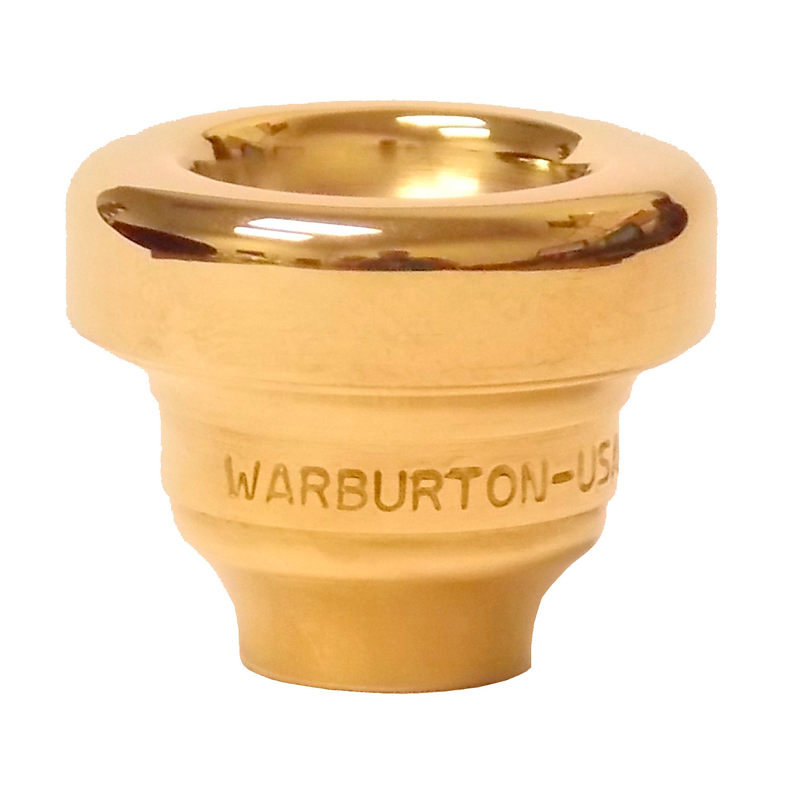 Warburton Size 4 Series Trumpet and Cornet Mouthpiece Top in Gold
