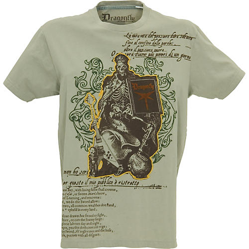 Dragonfly Clothing Skeleton Rocker Poem Men's T-Shirt