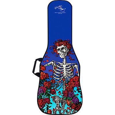 BOLDFACE Skeleton & Roses Electric Guitar Gig Bag w/ Graphic Face Panel