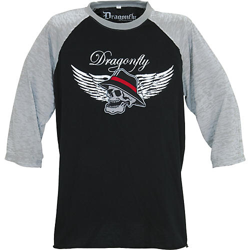 Dragonfly Clothing Skull Wearing Hat Men's Raglan