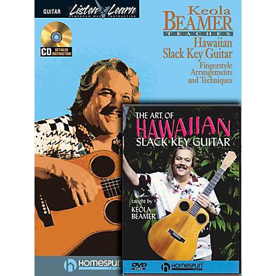 Homespun Slack Key Hawaiian Guitar Pack Homespun Tapes Series Softcover with DVD Written by Keola Beamer