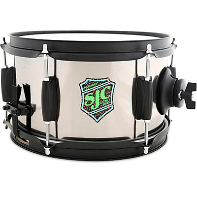 SJC Drums Slam Can Side Snare With Brushed Nickel Wrap