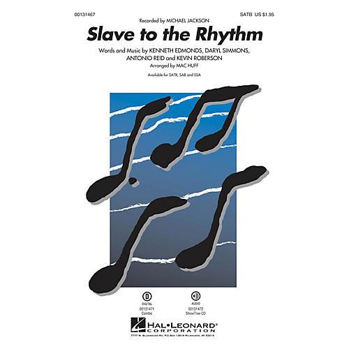Hal Leonard Slave to the Rhythm SAB by Michael Jackson Arranged by Mac Huff