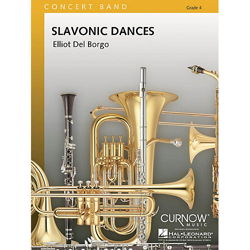 Curnow Music Slavonic Dances (Grade 4 - Score Only) Concert Band Level 4 Composed by Elliot Del Borgo