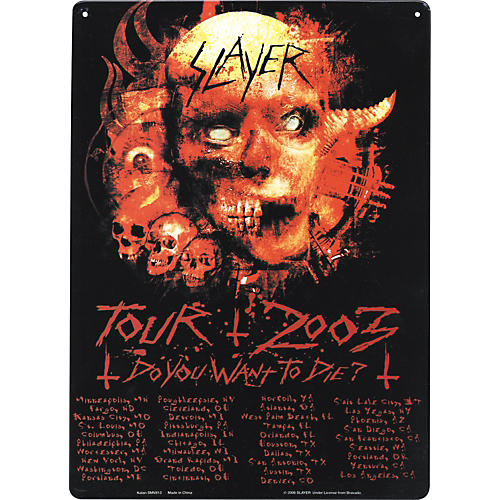 Gear One Slayer Tour 2003 Metal Sign