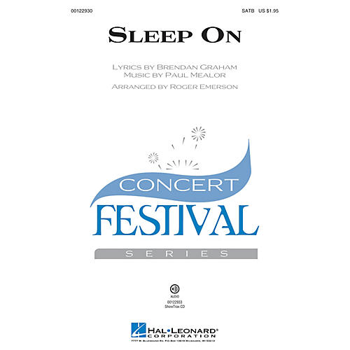 Hal Leonard Sleep On SATB by Hayley Westenra arranged by Roger Emerson