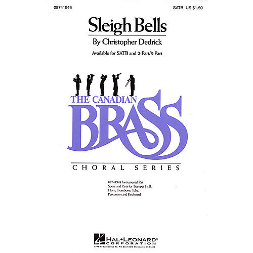 Hal Leonard Sleigh Bells SATB composed by Christopher Dedrick