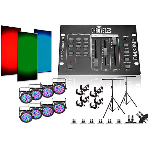 CHAUVET DJ SlimPar 56 DMX3MF 8 Light System