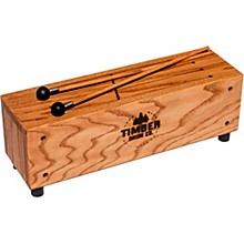 Open Box Timber Drum Company Slit Tongue Log Drum with Mallets