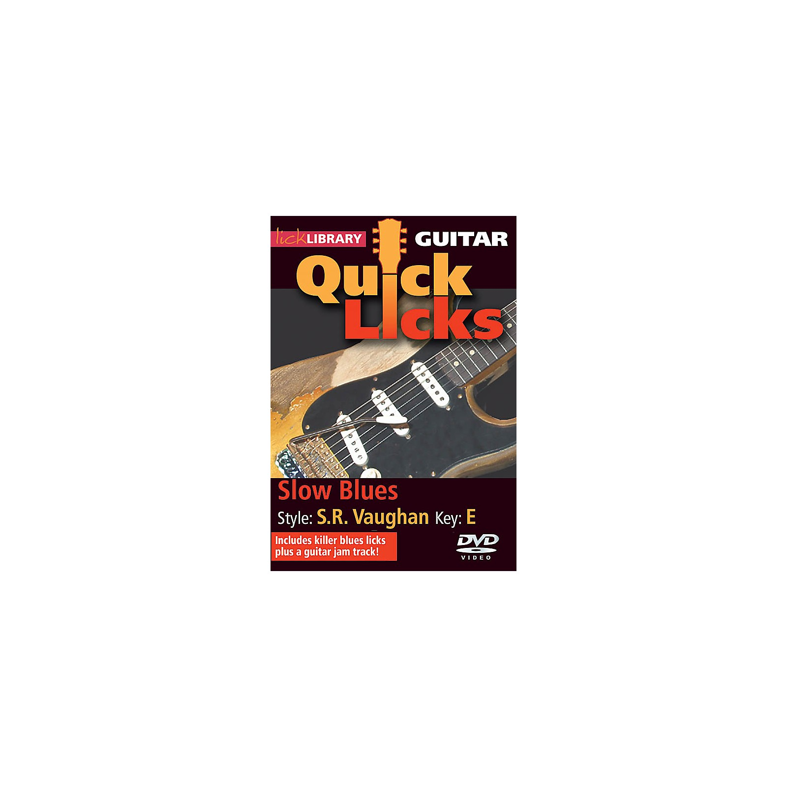 Licklibrary Slow Blues - Quick Licks (Style: Stevie Ray Vaughan; Key: E) Lick Library Series DVD by Jamie Humphries