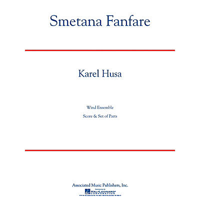 Associated Smetana Fanfare (Full Score) Concert Band Level 4-5 Composed by Karel Husa